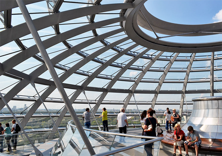 At the top of the Reichstag dome