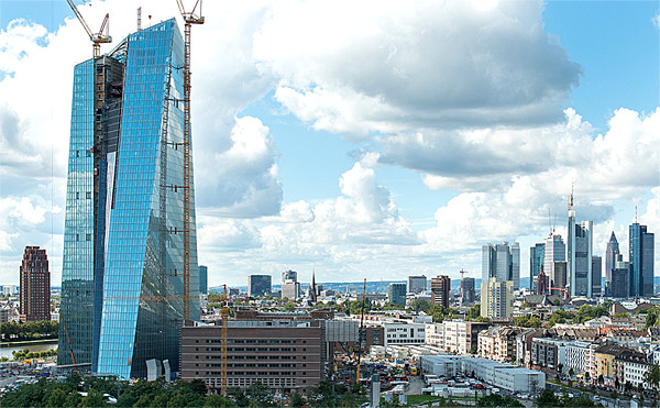 The ECB tower in Frankfurt