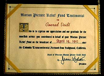 Veidt certificate