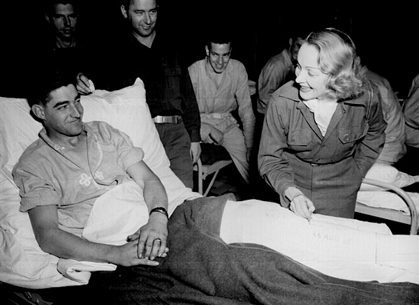 Dietrich at hospital in Belgium