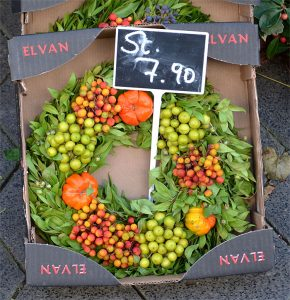 A German fall wreath