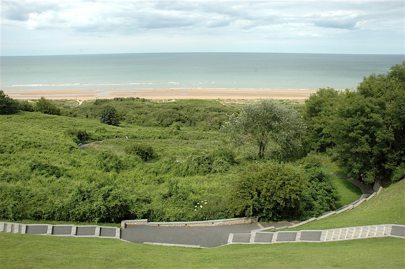 Omaha Beach from the cemetery