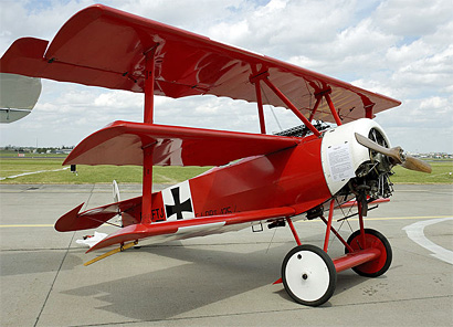 Red Baron's Fokker DR1 airplane