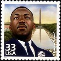 MLK postage stamp