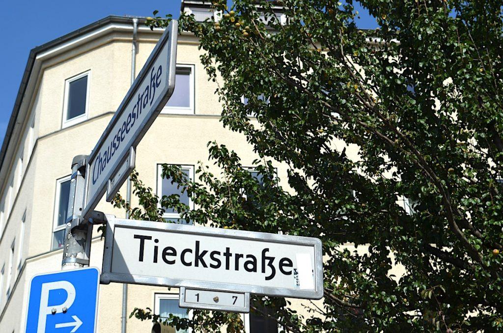 Tieckstrasse in Berlin