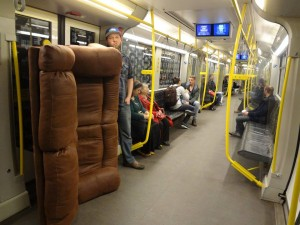 Moving on the Berlin U-Bahn