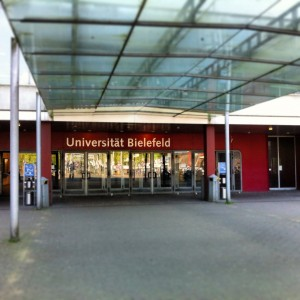 Entrance to University of Bielefeld Photo: Jay Malone