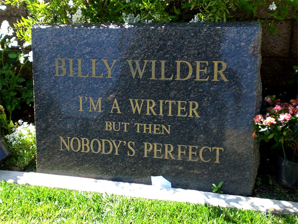Billy Wilder gravestone