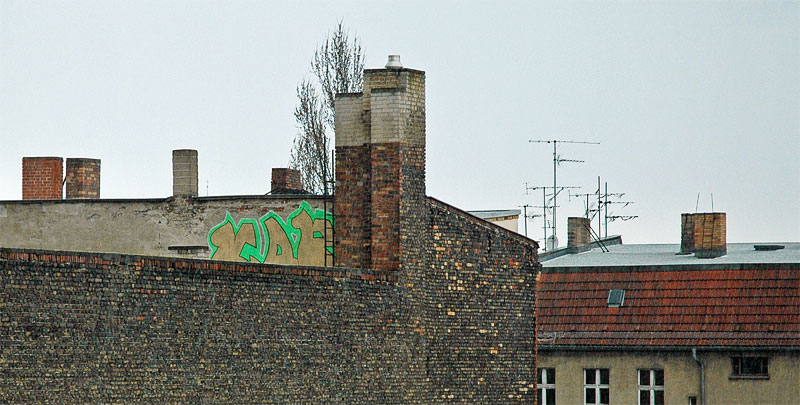 Rooftop graffiti in Berlin