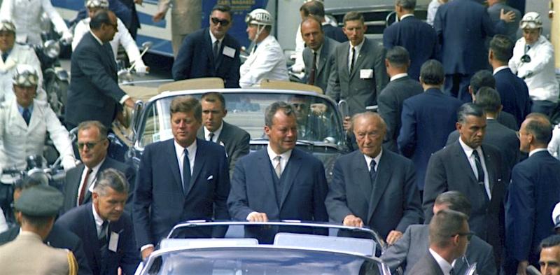 JFK Brandt Adenauer 1963