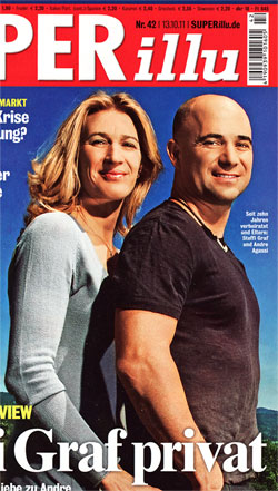 Steffi Graf and husband Andre Agassi