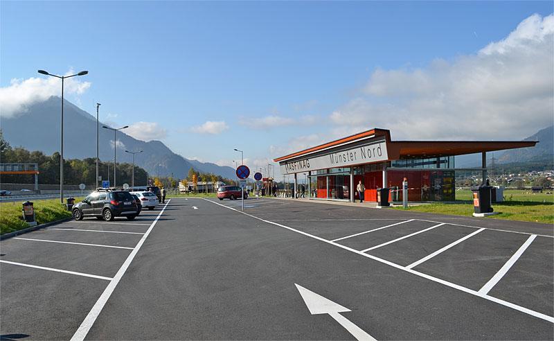 Austrian autobahn rest stop
