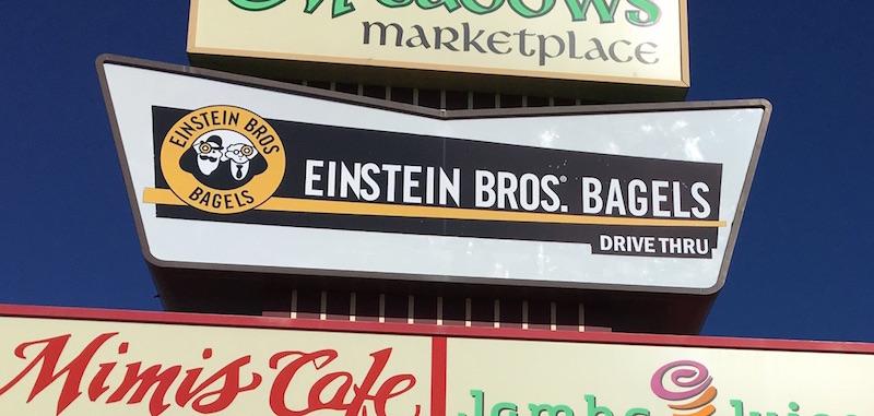 Einstein Bros sign