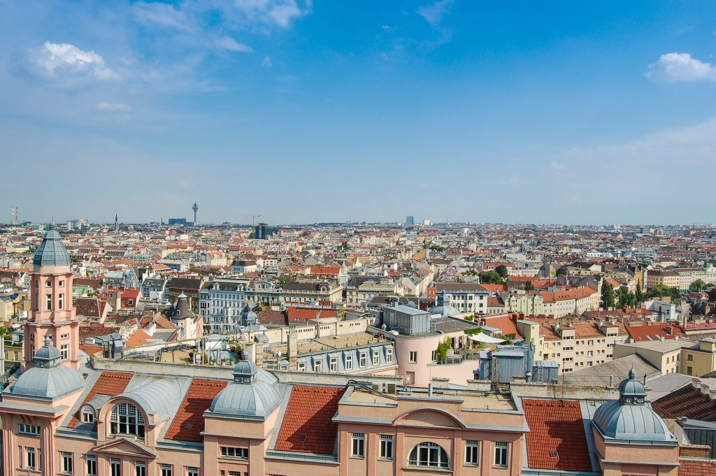 Vienna panorama view
