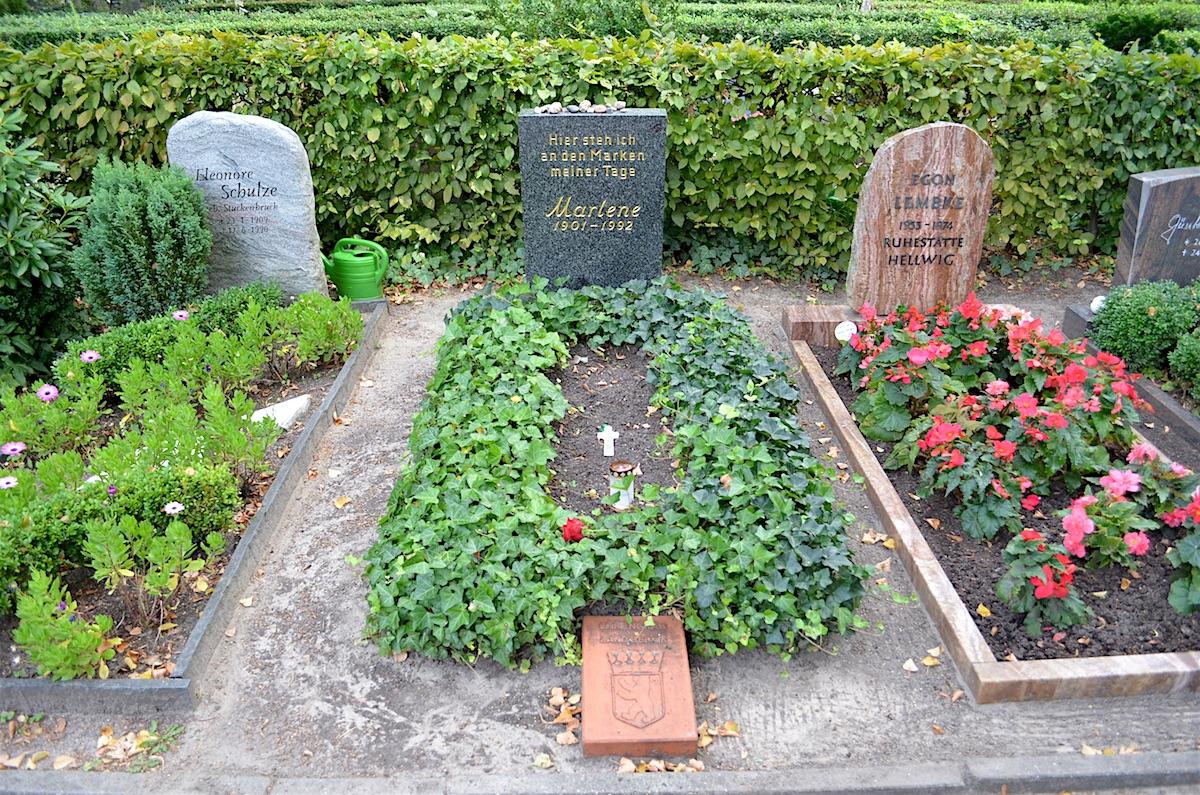Marlene Dietrich's grave