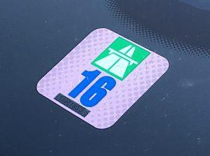 Swiss autobahn sticker