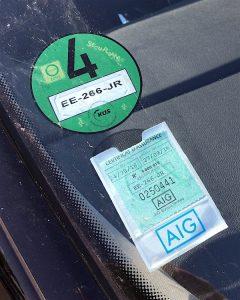 Green zone sticker