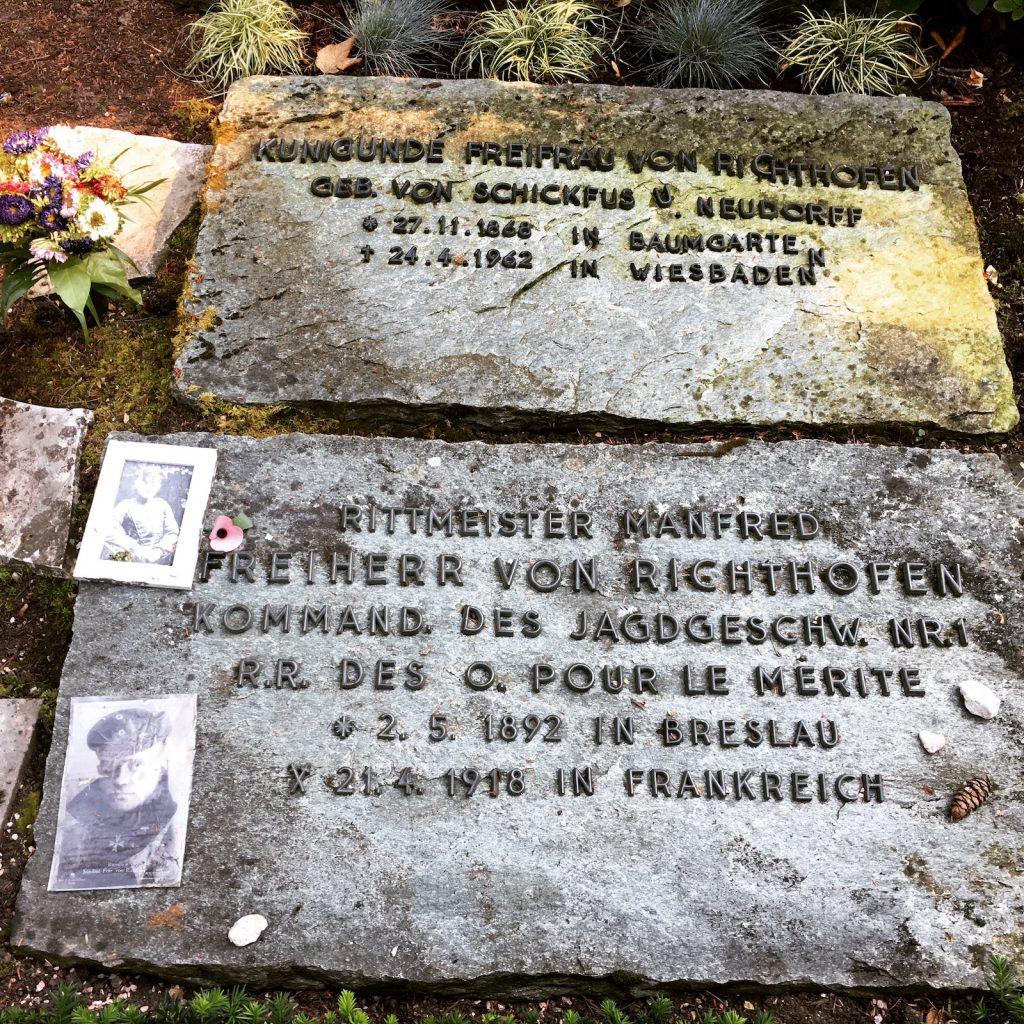 Richthofen's grave in Wiesbaden