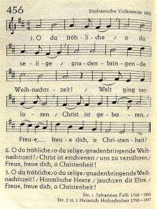 Music: 'O du froehliche'