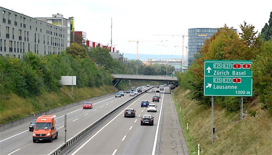 Swiss autobahn - Zurich