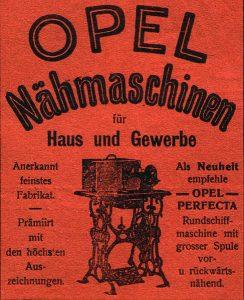 Opel sewing machine ad