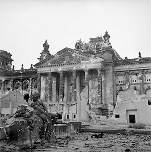 Reichstag after WII bombing