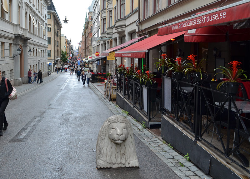 Stockholm shopping street