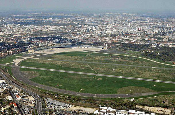 Tempelhof field aerial view